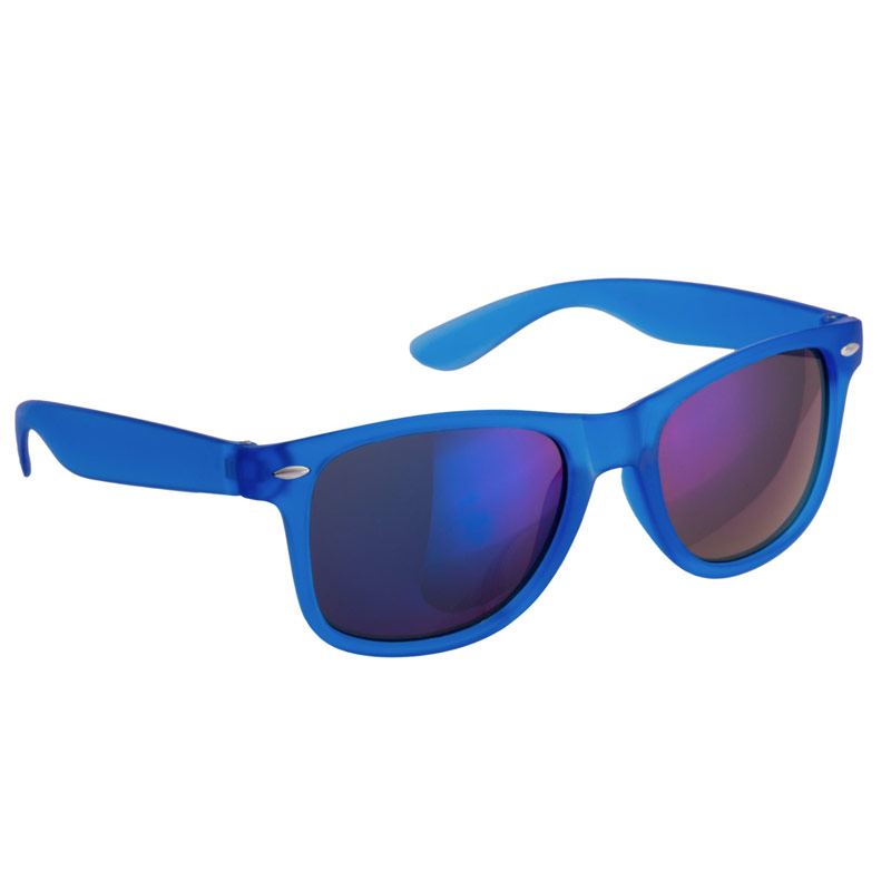 Gafas de sol para boda. Color azul. Cristal espejo.