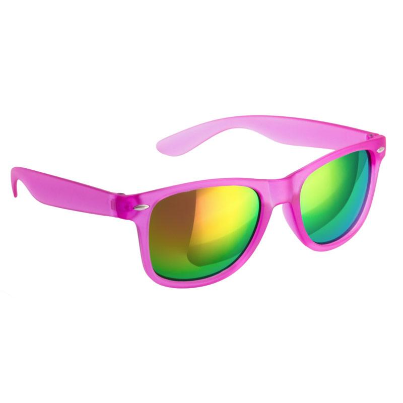 Gafas de sol para boda. Color fucsia. Cristal espejo.