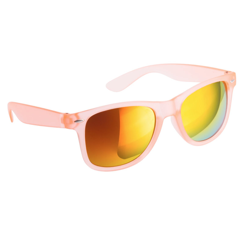 Gafas de sol para boda. Color naranja. Cristal espejo.