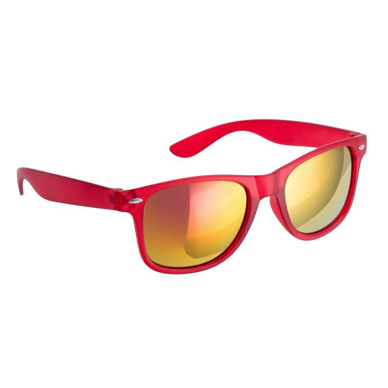 Gafas de sol para boda. Color rojo. Cristal espejo.