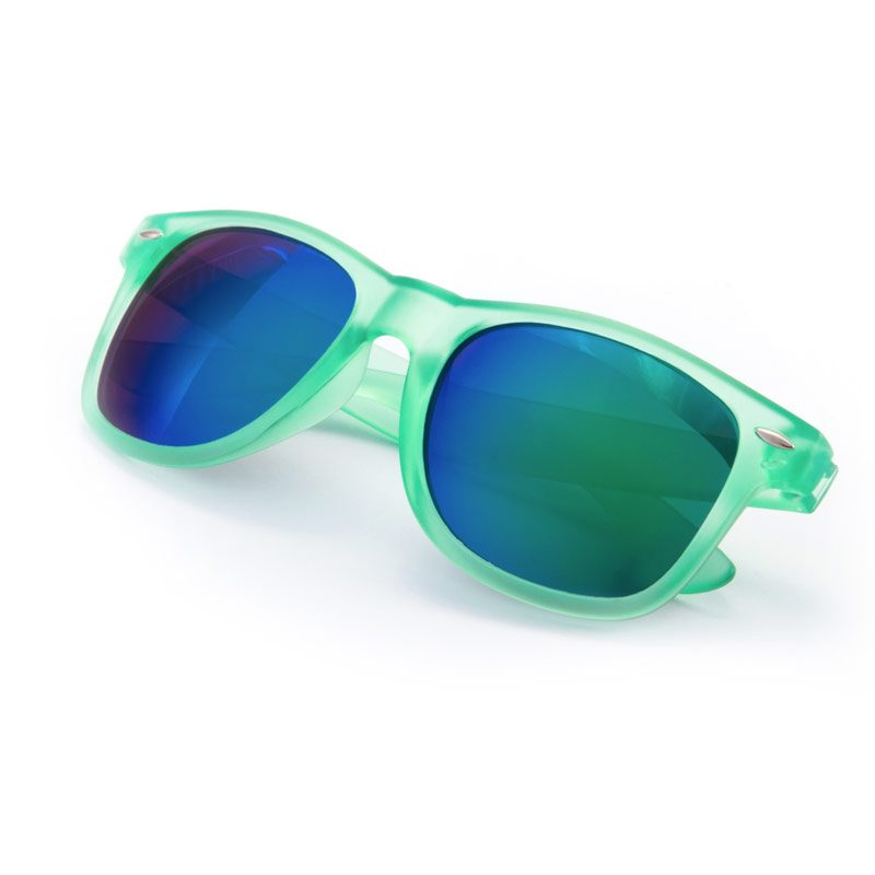 3b42217802 Gafas de sol para boda. Color verde. Cristal espejo.