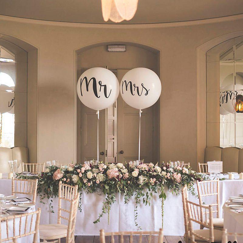 Pack 2 globos para boda. Mr y Mrs. Hasta 91cm de inflado. globo boda mr mrs