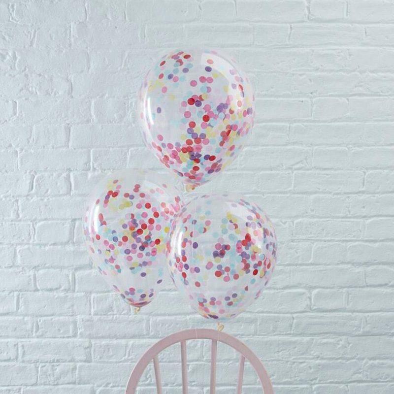 Pack de 5 globos con confeti multicolor globo para bodas confeti multicolor