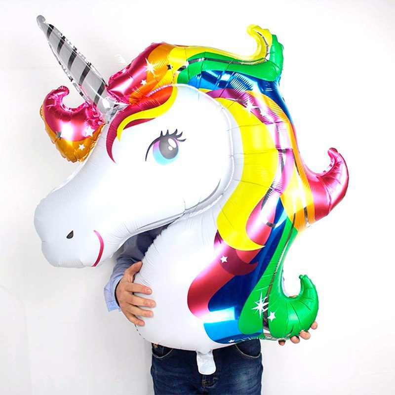 Globo metalizado, unicornio. 87x117cm de altura