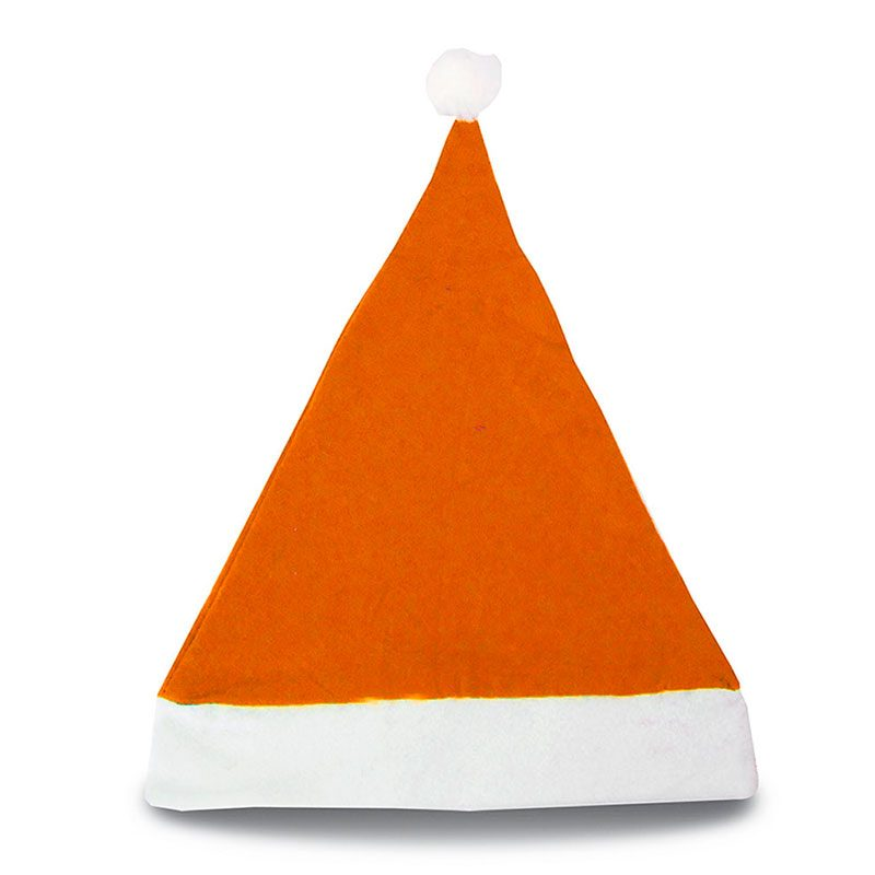 Gorro de papa noel en color naranja