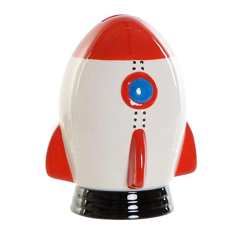 Hucha en forma de cohete