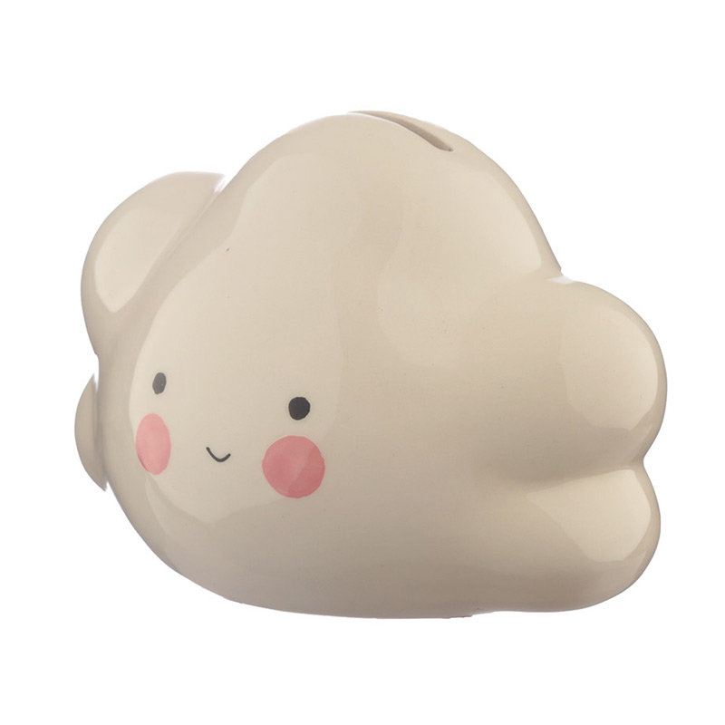 Hucha de cerámica, modelo nube. 12x9cm