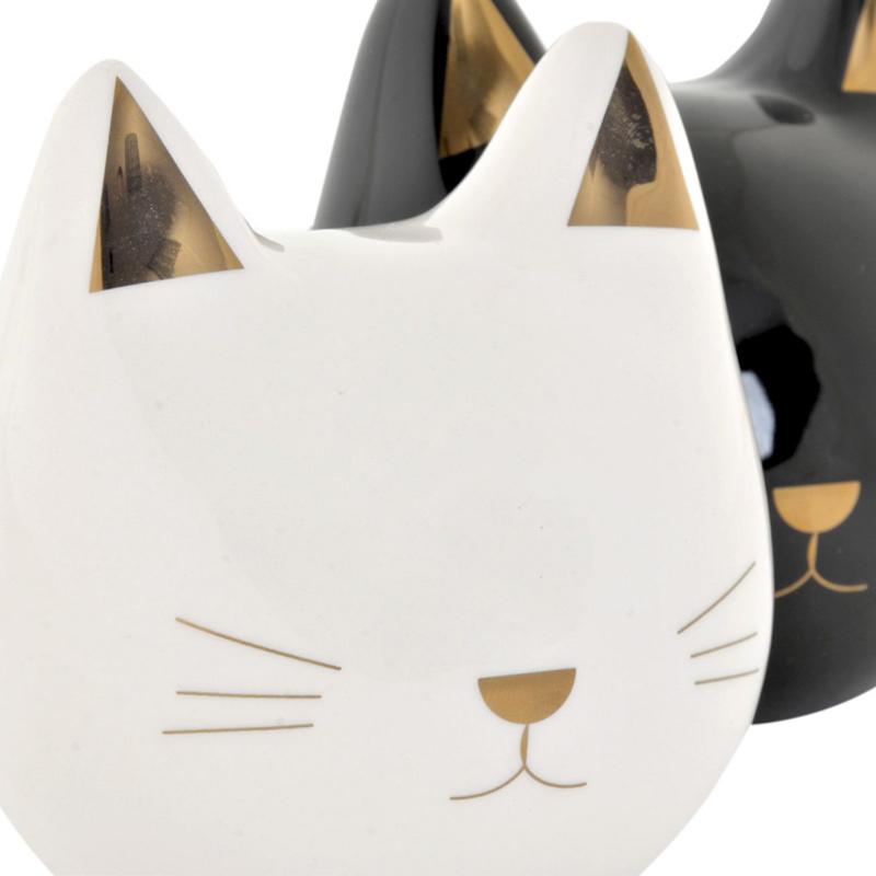 Hucha Gato con detalles dorados. 2 colores disponibles.