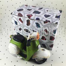 hucha diseño moto vespa