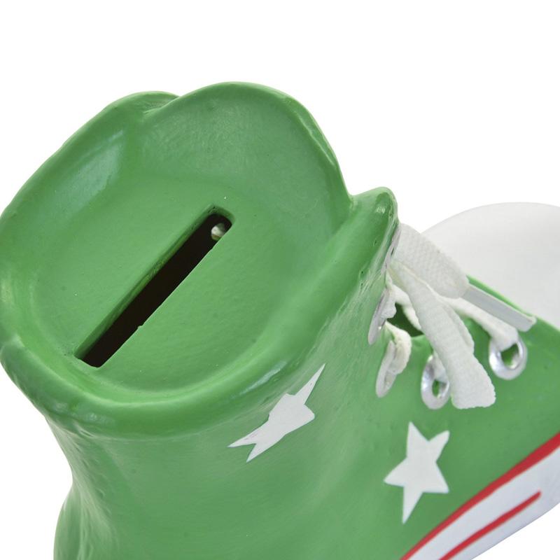 Hucha Zapatilla American. 4 colores. 16x14cm. Cordones reales.