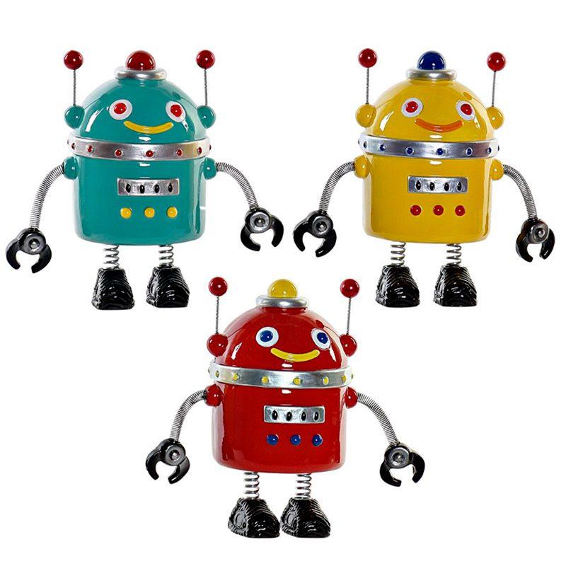 Hucha Robot en 3 colores surtidos