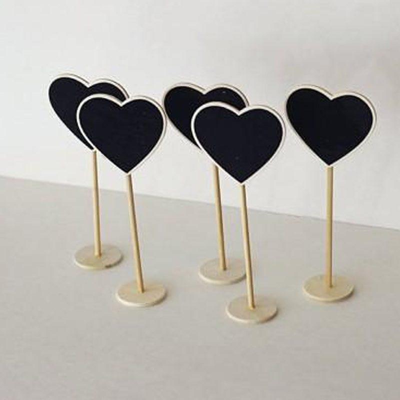Soporte de madera y pizarra corazón identificador pizarra corazon 2