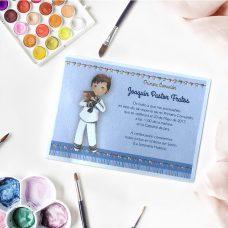 Invitación de comunión para niño modelo 413.721