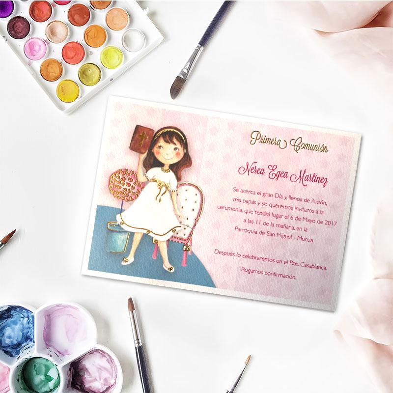 Invitación de comunión modelo biblia chica