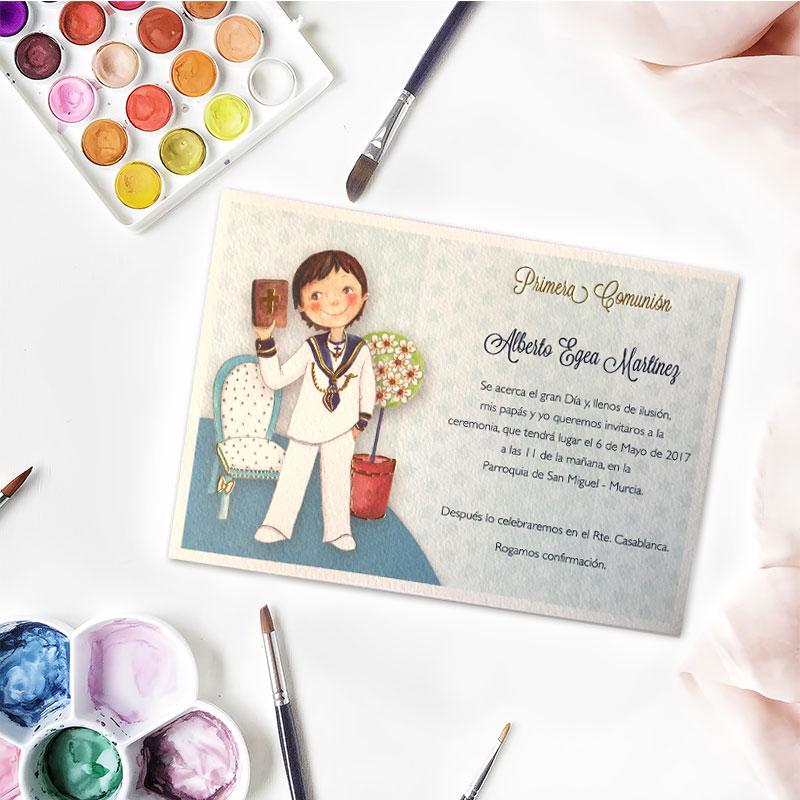 Invitación de comunión diseño biblia
