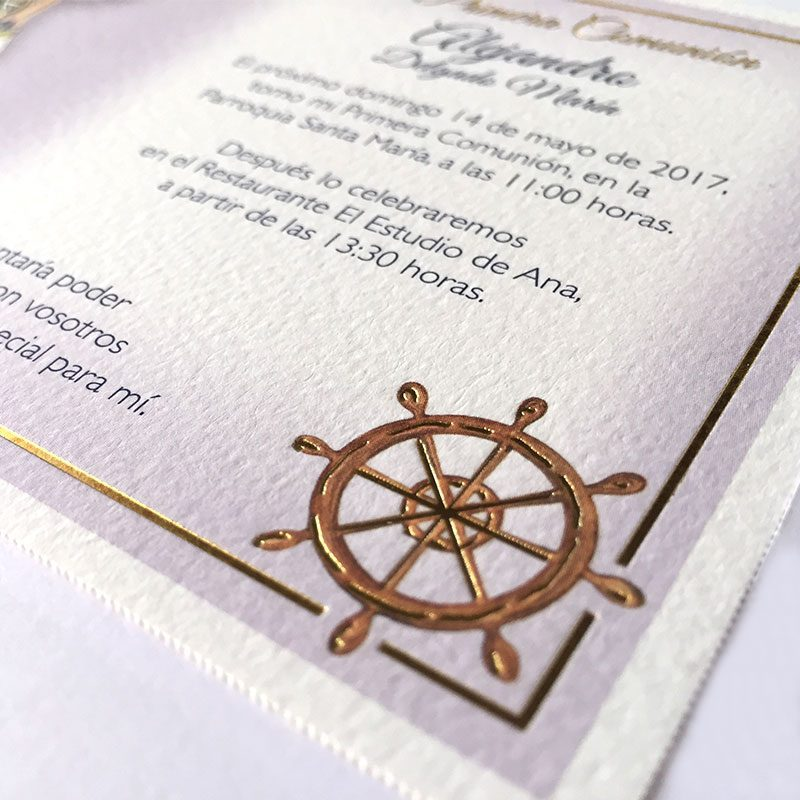 Invitación de comunión timón