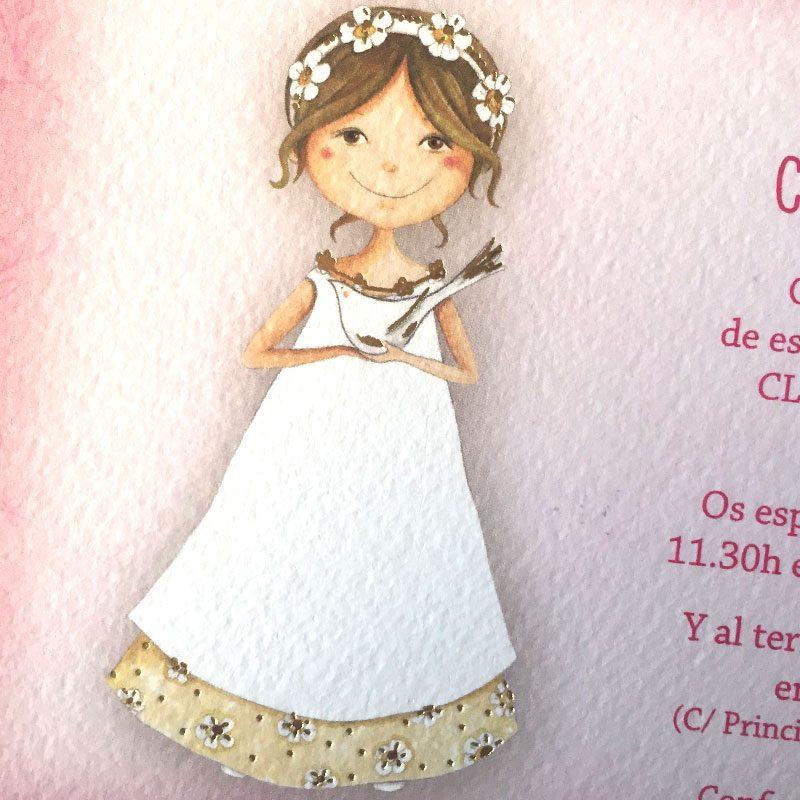 Invitación mi primera comunión niña 413.726