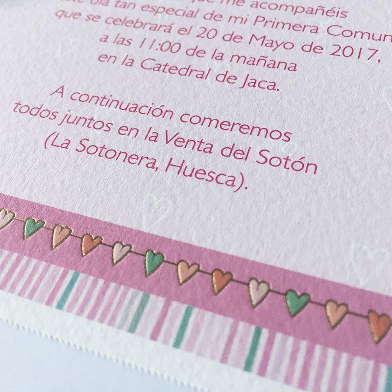 Invitación para comunión niña, modelo 413.722