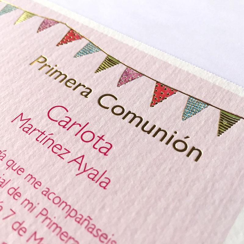 Invitación para mi comunión niña