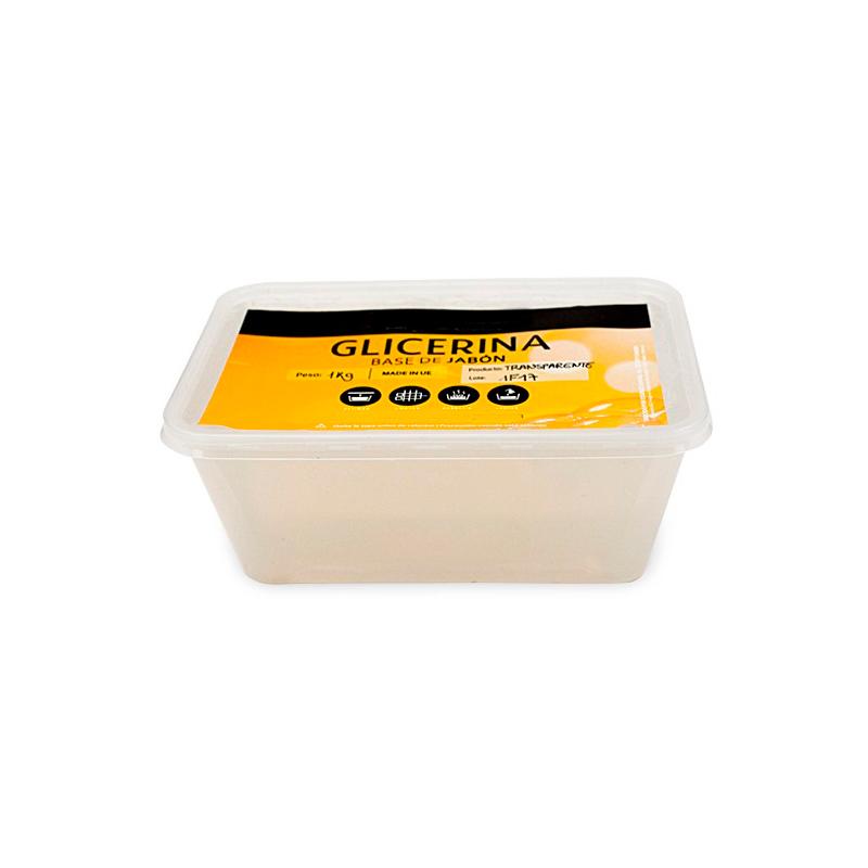 Jabón base de glicerina, transparente. Disponible en 500gr y 1kl.