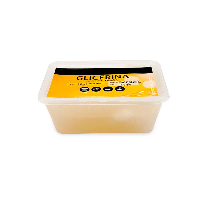 Jabón base de glicerina, suspensión. Disponible en 500gr y 1kl.