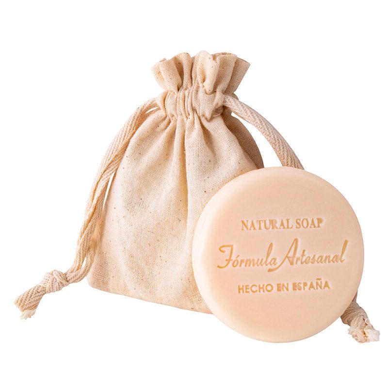 Jabón natural artesano en bolsita de algodón. 40gr
