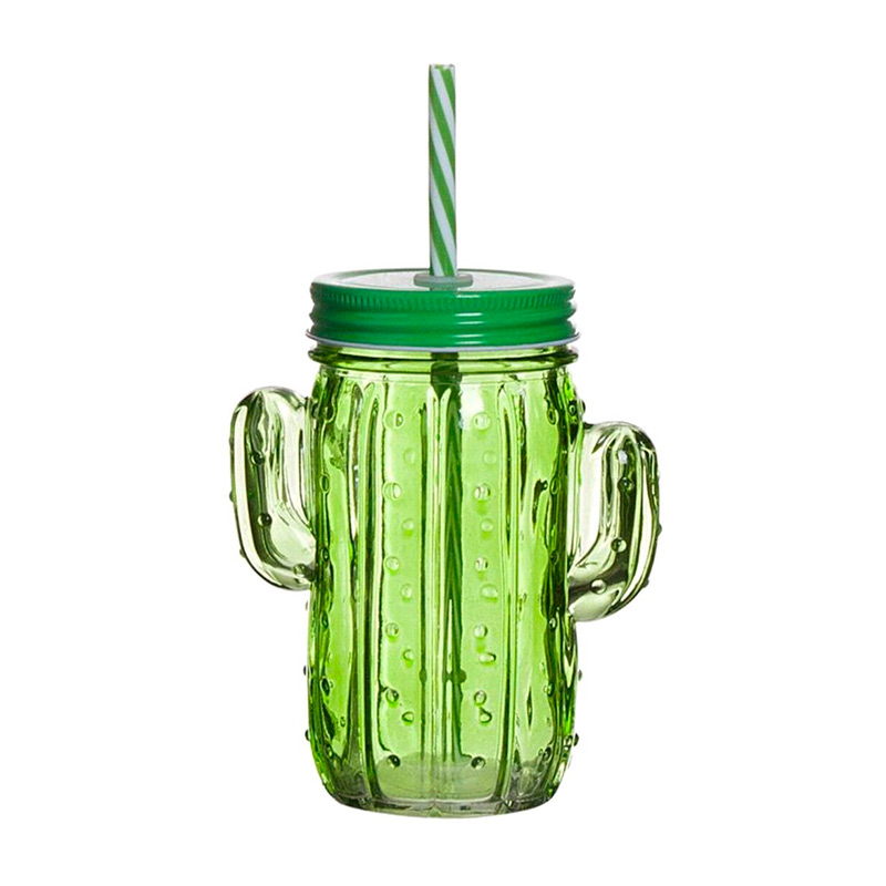 Nueva jarra cactus para eventos. Color verde. 400ml