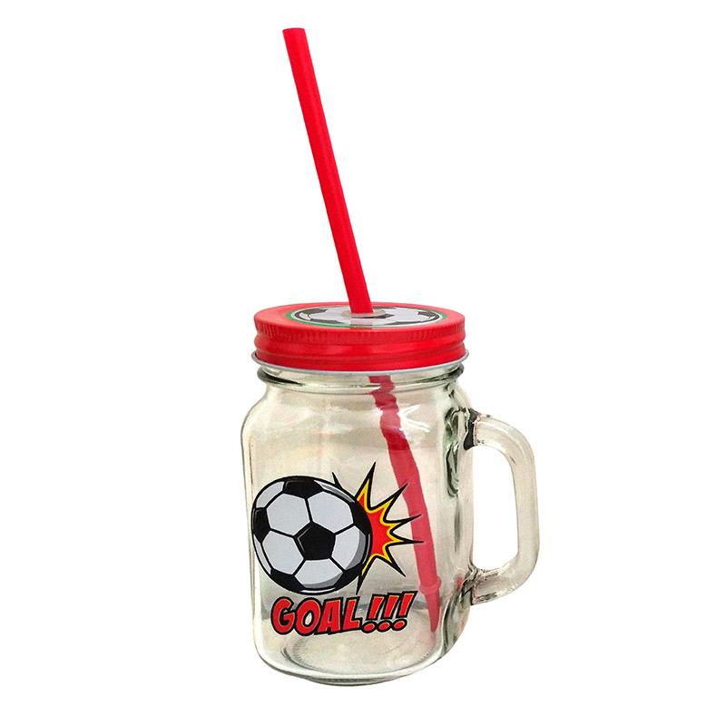 Nueva jarra con pajita para comunión. Modelo fútbol. 3 modelos.