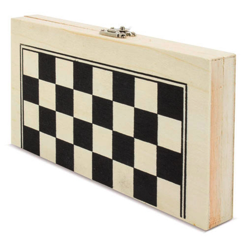 Juego de ajedrez plegable de madera. Detalles de boda. Detalles de boda.