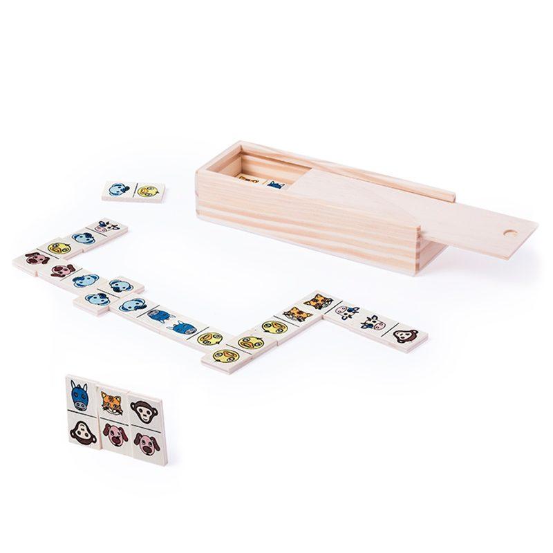 Juego Dominó de animales, 28 piezas juego domino de animales 28 piezas regalos infantiles para comunion2