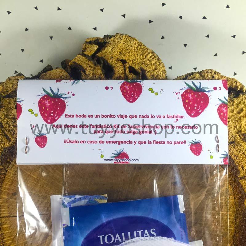 Kit de supervivencia para bodas modelo fresas