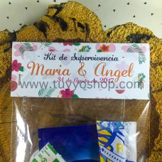 Kit de supervivencia para bodas modelo Hawai