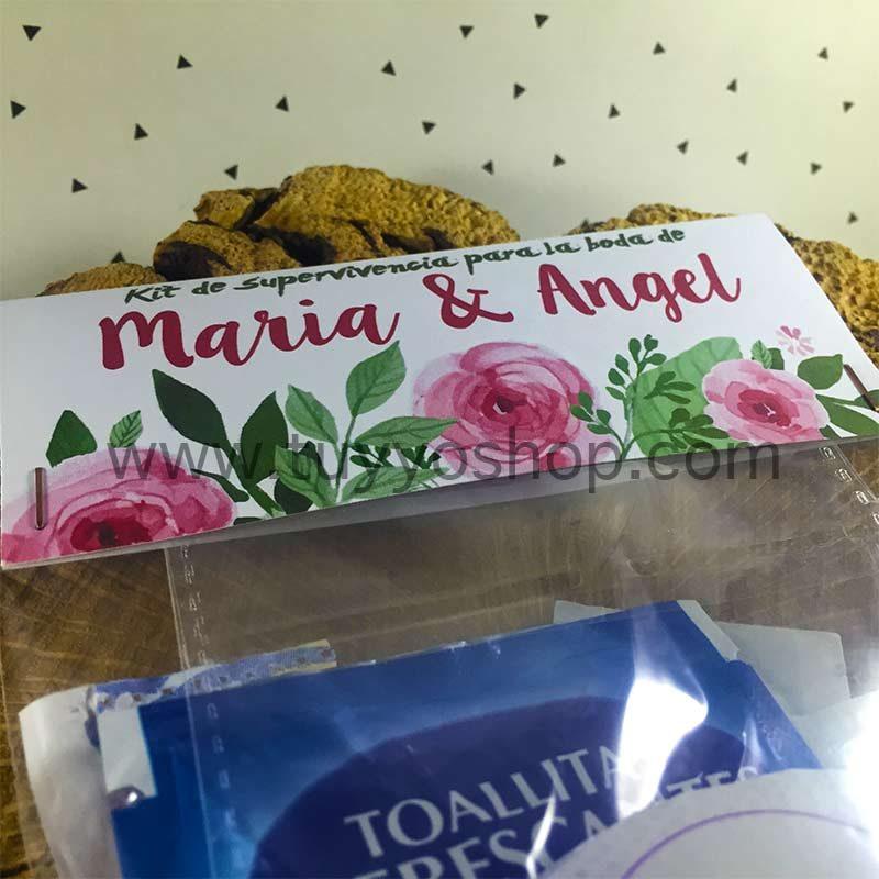 Kit de supervivencia para bodas modelo rosas