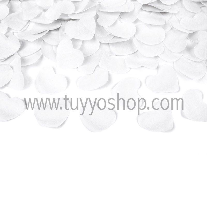 Lanzador de corazones en color blanco 60cm