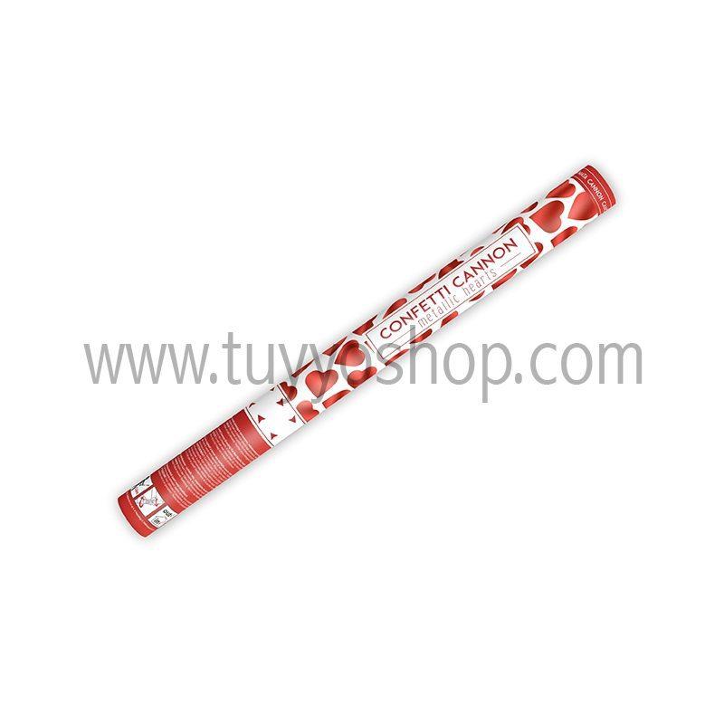 Lanzador de corazones en color rojo 60cm