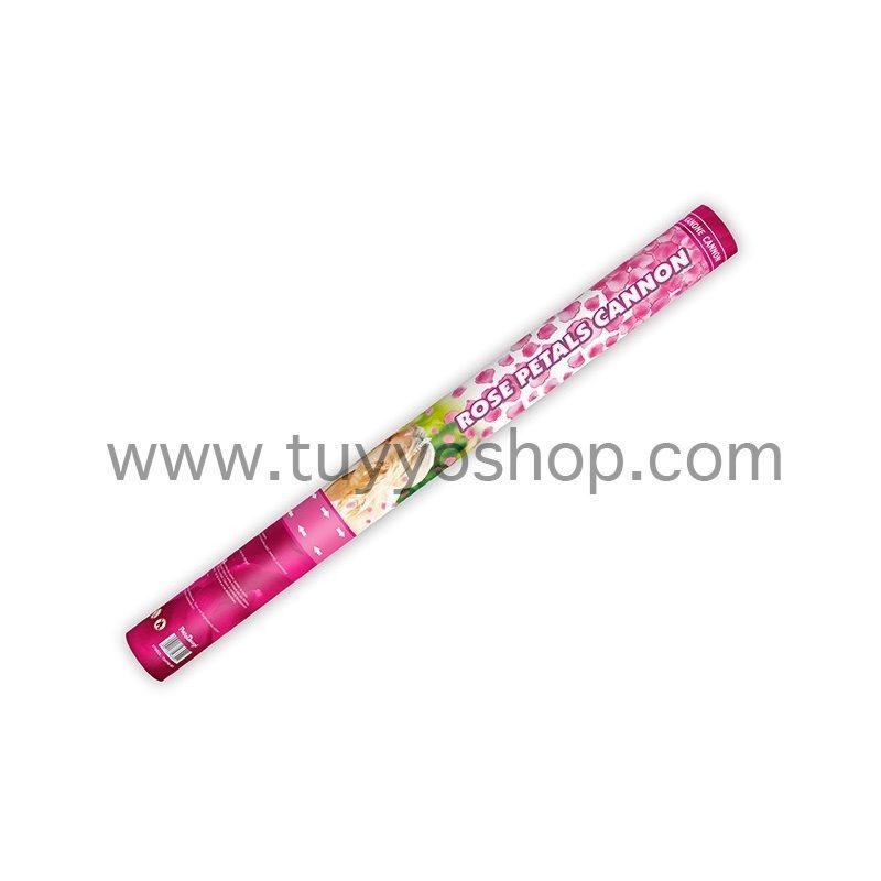 lanzador pétalos de rosa en color rosa,