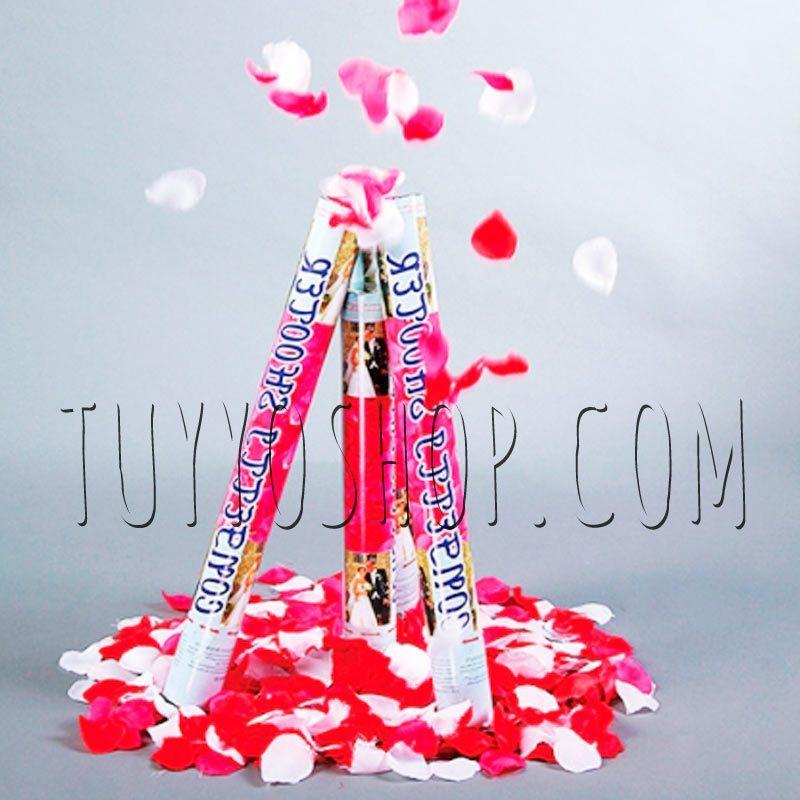 Lanzador pétalos de rosa 80 cm, 2 colores