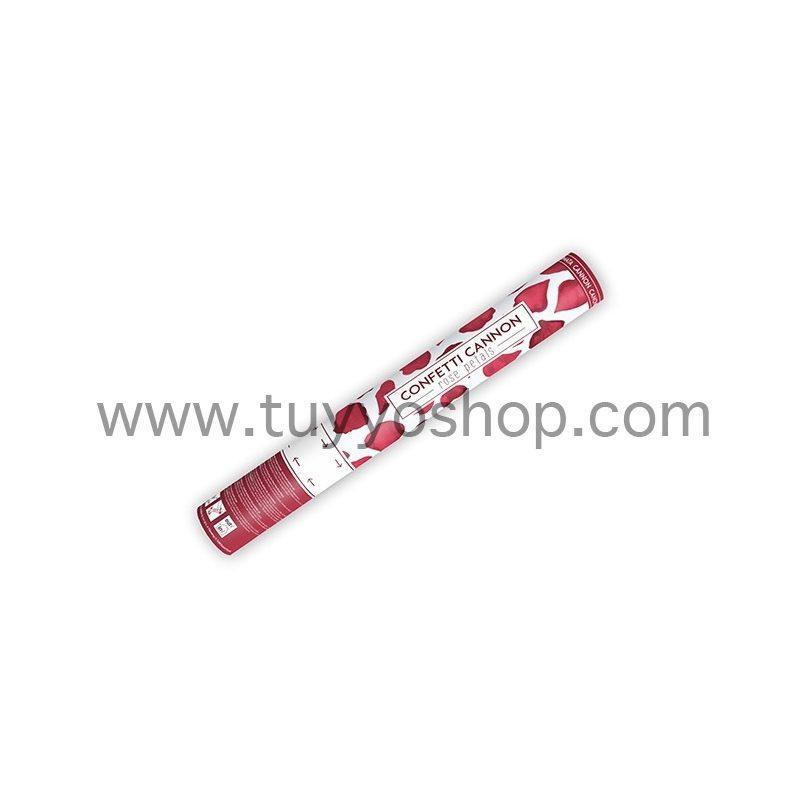 lanzador de pétalos de rosa en color rojo