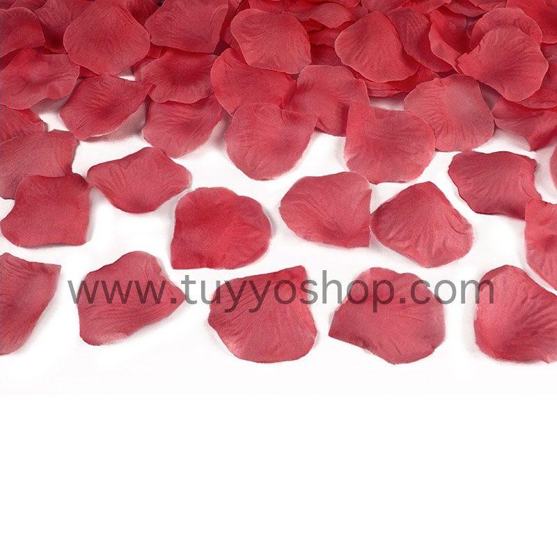petalos de rosa en color rojo