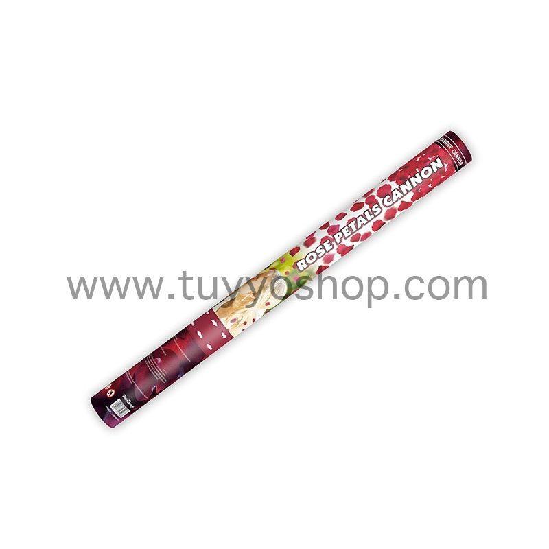 lanzador de pétalos de rosa en color rojo. 60cm.