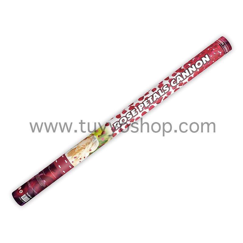 lanzador de petalos de rosa en color rojo, 80cm