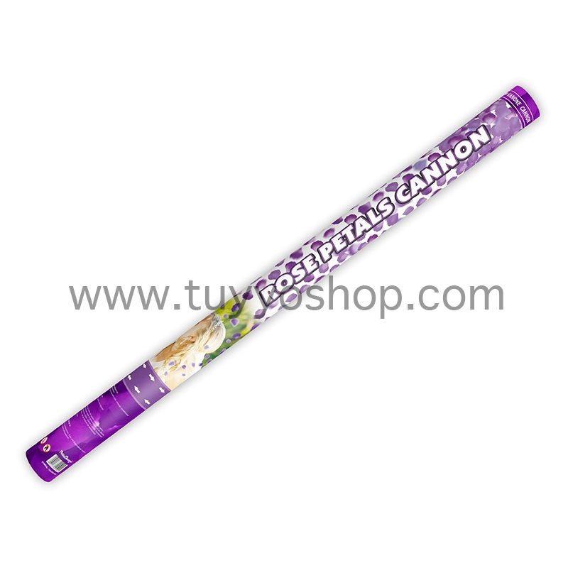 lanzador pétalos de rosa en color violeta