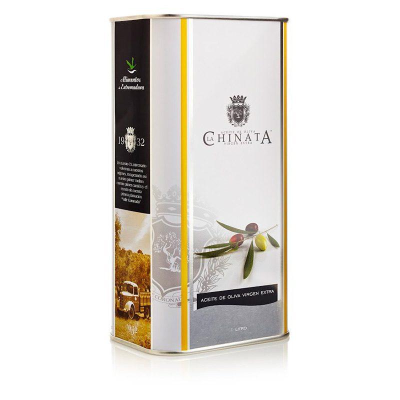 Aceite de oliva para boda en lata. 1 litro.
