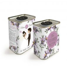 Latita de aceite de oliva para boda. Personalizada. Modelo Love. 150ml
