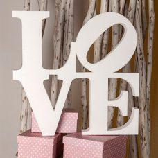 letras en corcho para boda, palabra Love