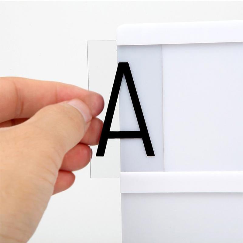 letrero retro luz tamaño a4