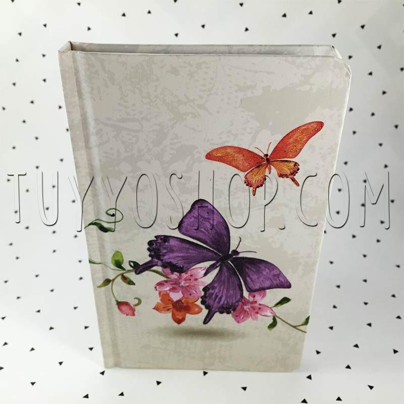 libreta para boda modelo mariposas con brillante