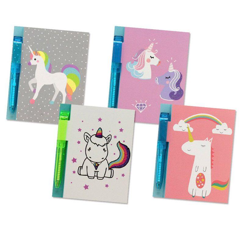 Libreta con bolígrafo Unicornio