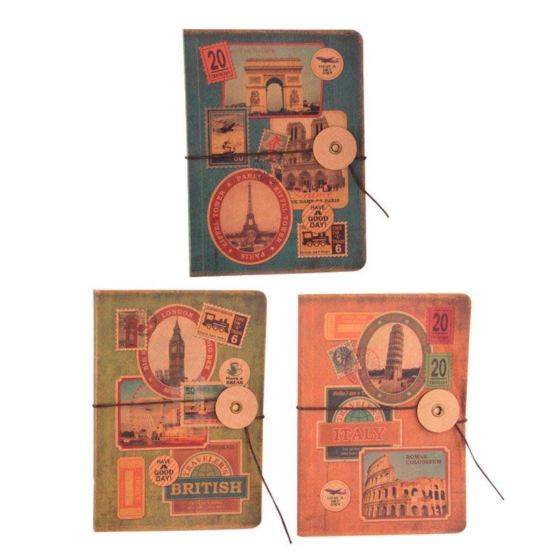 Libreta de cartón para bodas. Viajes. 3 modelos. 14x10cm