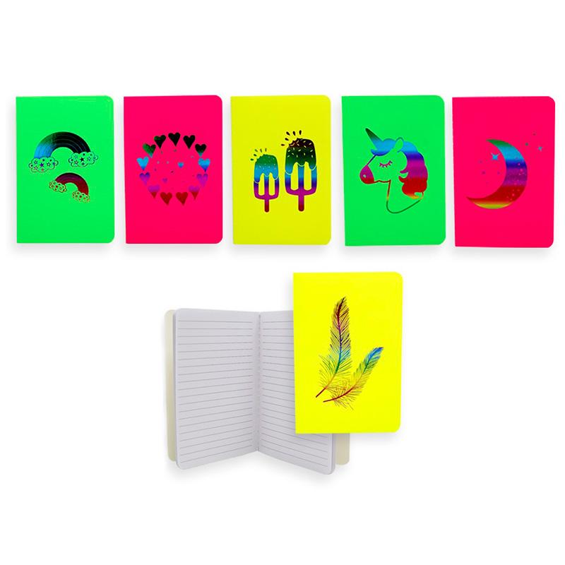 Libretas de colores para boda. 6 modelos. Rainbow Foil. A6.
